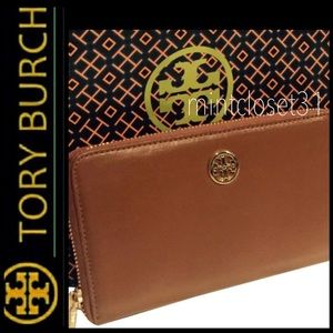 Tory Burch Leather Zipper Wallet